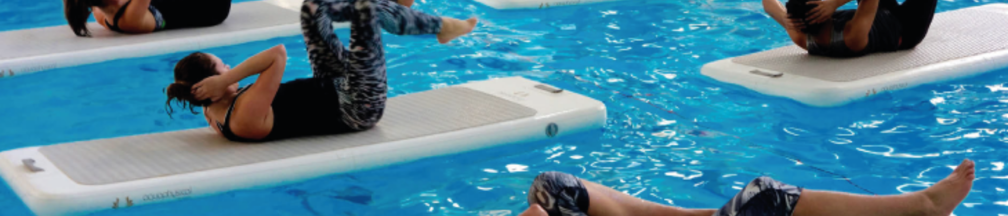 Floatfit: een complete work-out op het water